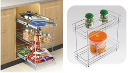 Two Self Pullout Basket