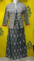 Mirror Work Jacket Kurti