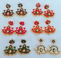Traditional Meenakari Earrings For Women