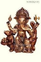 Brass Ganesh Statue Sitting