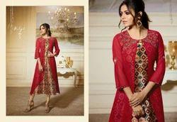 LT Fabrics Beautiful Stylish Colorful Casual Wear & Ethnic Wear & Ready To Wear Georgette Kurtis