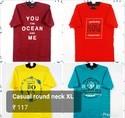 Mens Round Neck Cotton Printed T Shirt