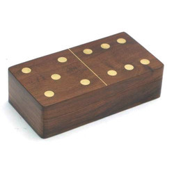 Brown Rectangular Handcrafted Sheesham Wooden Game Box