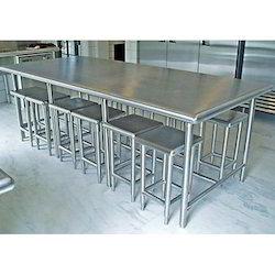 Stainless Steel Dining Table Set, SS Dining Table, Stainless Steel Ki Khana  Khane Wali Mej   Glory Steel, Ghaziabad | ID: 13003161373
