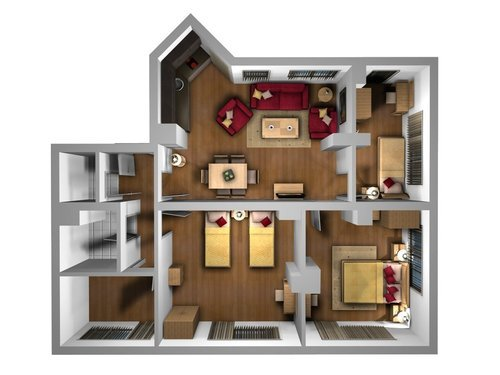 Furniture Interior Design Layout 3D