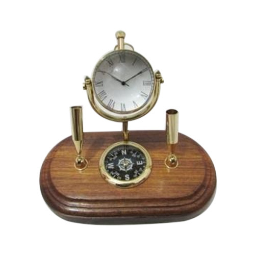 Compass Table Top Watch With Pen Holder