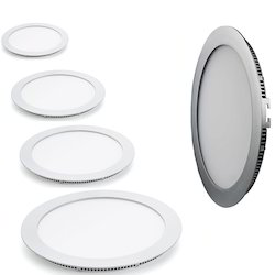 Cool White Ceramic Slim Round LED Panel Light, Shape: Round
