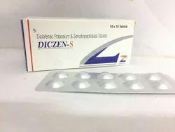 Diclofenac Potassium 50 Mg Serratiopeptidase 10 Mg Tablets