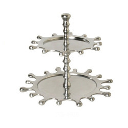 Stainless Steel Steel Cake Stand, Shape: Round