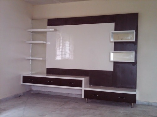Living Room Lcd Tv Wall Unit Aamphaa Showroom Service