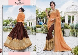 Georgette Embroidered Ethnic Sarees