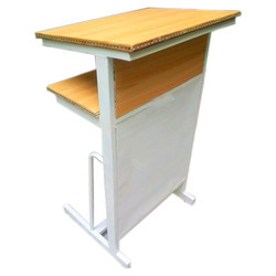 Lecture Stand With Iron Mesh