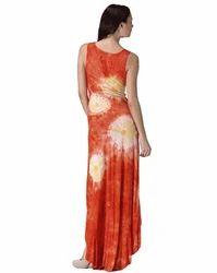 Orange Long Casual Dress