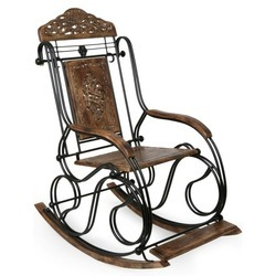 Foldable Wrought Iron Rocking Chair