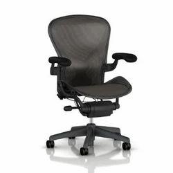 Black Aeron Chair, Full Height: 3.5 Feet