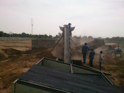 Sand Screening Plant With Conveyor And Hopper