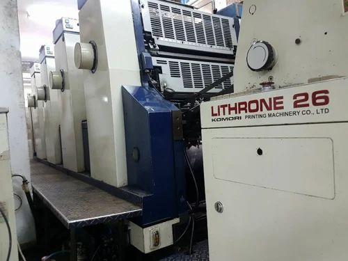 komori old lithrone 426 four colour offset printing machine rh indiamart com Offset Printing Machine Balloon Printing Machine