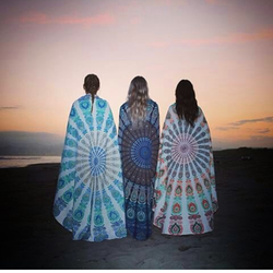 Beach Side Madala Cotton Round Indian Manedala Bag