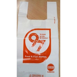 Plastic White U Cut Printed Poly Bag, For Grocery, Capacity: 5-10 Kg