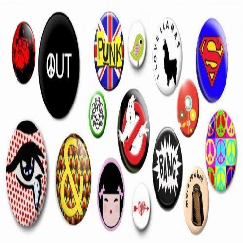 Multicolor Tin Metal Button Badges