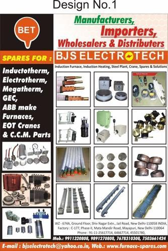 Spare Parts - Induction Furnace Spare Parts Manufacturer from New Delhi