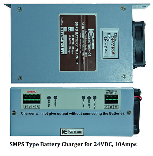 SMPS Type Battery Charger for 24VDC, 10Amps - Kaushik