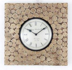 Coin Fitted Square Clocks