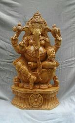 Wooden Lord Ganesha 18 Inches