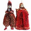 Rajasthani Colorful Puppet Kathputli Pair