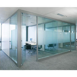 Plain Toughened Office Partition Glass, Shape: Rectangular