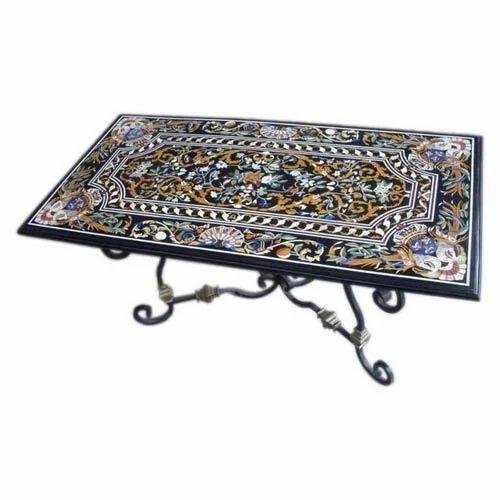Marble Micro Mosaic Inlay Table