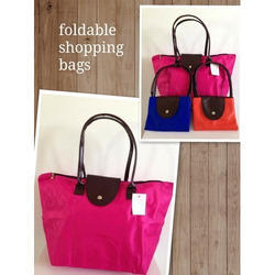 Plain Foldable Shopping Bags, For Casual Wear, Capacity: 3 Kg