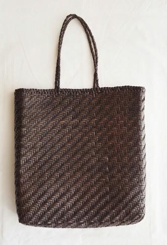 6578787762b Zairah Dark Brown   Black Dragon, Hand Braided Leather Bag, Rs 9950 ...