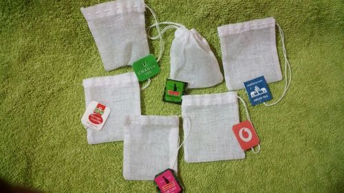 Muslin Reusable Tea Bags Capacity Up To 4 G Whole