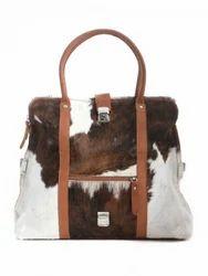 Unisex Handmade Hairon Leather Handbag
