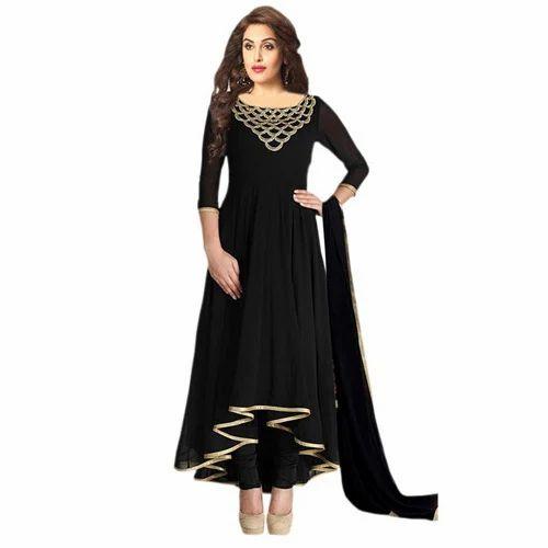 b49ea909d5 Cotton Formal Wear Ladies Designer Black Suit, Rs 1400 /piece   ID ...