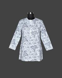 Women's Printed Cotton Formal Kurta