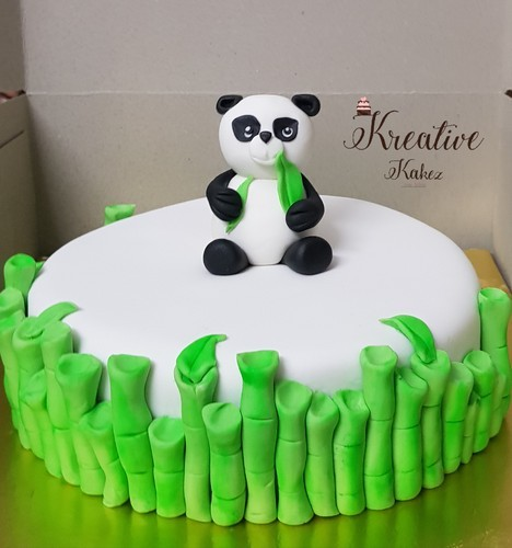 Remarkable Panda Themed Birthday Cake At Rs 2000 Ounce Theme Cake Id Funny Birthday Cards Online Aboleapandamsfinfo