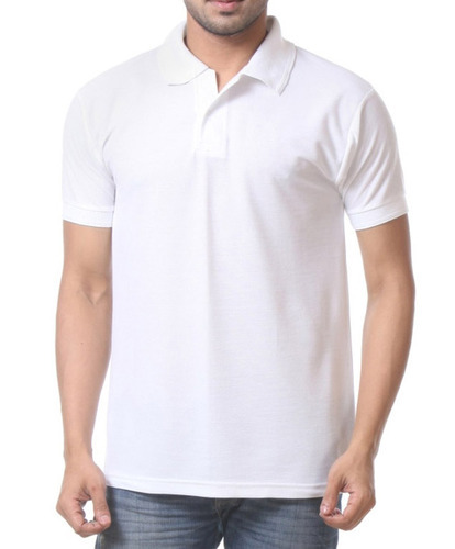 dfd56bbfa51 Cotton Plain Half Sleeve Polo T-Shirt PC Pique