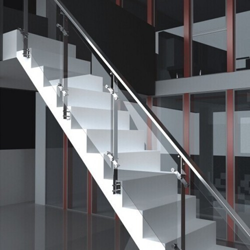 Stainless Steel Railings Glass Handrails Installation: Stainless Steel Glass Railing At Rs 1200 /square Feet(s
