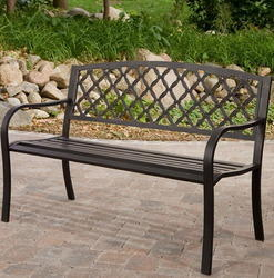 wrought iron garden furniture. Contemporary Garden Polished Wrought Iron Garden Bench Rs 12500 Unit Outdoor Hub  ID  4293602633 Inside Furniture R