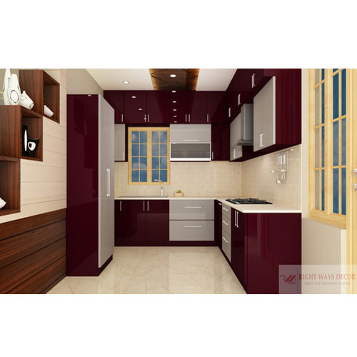 Pvc Modular Kitchen Manufacturer From: Modern PVC Modular Kitchen, Rs 1250 /square Feet, Right