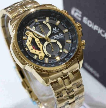 Gold Casio Edifice Men  s Watch 7edc59ec8fb4