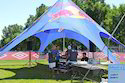 White Star Polyester Tent, Size: 90 Cm * 40 Cm