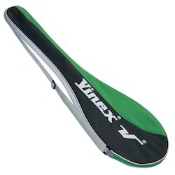 Black And Green Vinex Super Tennis Racket Bag