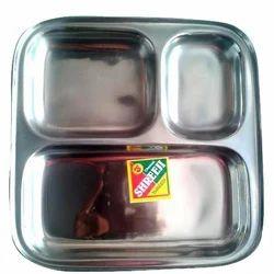 Stainless Steel Pav Bhaji Plate
