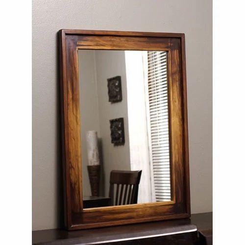 Sheesham Wood Mirror Frame लकड क, Wood Mirror Frames Design