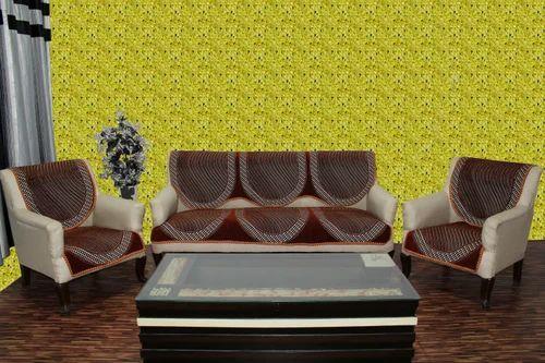 Stalish Chenille Sofa Cover Activa Rust