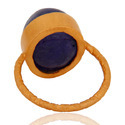 Tanzanite Gemstone Gold Plated 925 Silver Ring