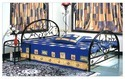 Brown Modern Metal Bed, For Hotel, Size: Standard